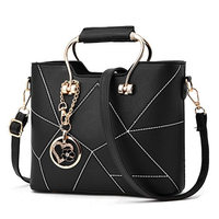 Fashion Panelled Women Handbag Sequined Ladies Tote Hand Bags Hot High Quality PU Leather Brand Crossbody