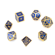 Excalibur's Royal Blue Metal Dice Set