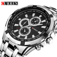 CURREN Men Watches Top Brand Luxury Men Sport Watches Waterproof Stainless Steel Man Quartz Watch Mens