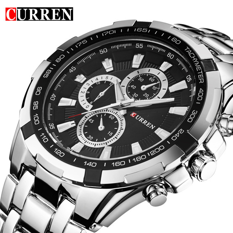 CURREN Men Watches Top Brand Luxury Men Sport Watches Waterproof Stainless Steel Man Quartz Watch Mens Relogio Masculino 8023 curren 8023 mens watches top brand luxury stainless steel quartz men watch military sport clock man wristwatch relogio masculino