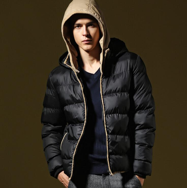 Online Shop 4 Colors Men Winter Duck Down Jacket Double Hat Hooded ...