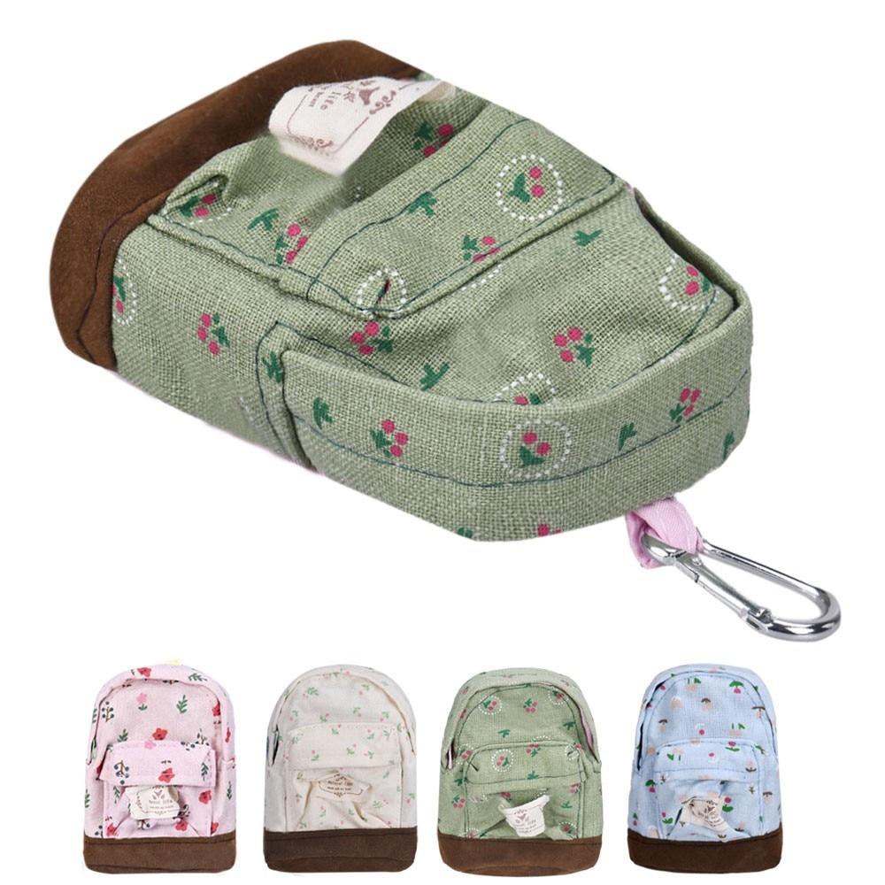Fashion Kawaii Fabric Canvas Mini Floral Backpack Women Girls Kids Cheap Coin Pouch Change Purses Clutch Bags Monedero HW #X40