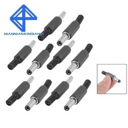 10PCS x Black Plastic Cover 2.1x5.5mm Male DC Power Plug Jack Connector