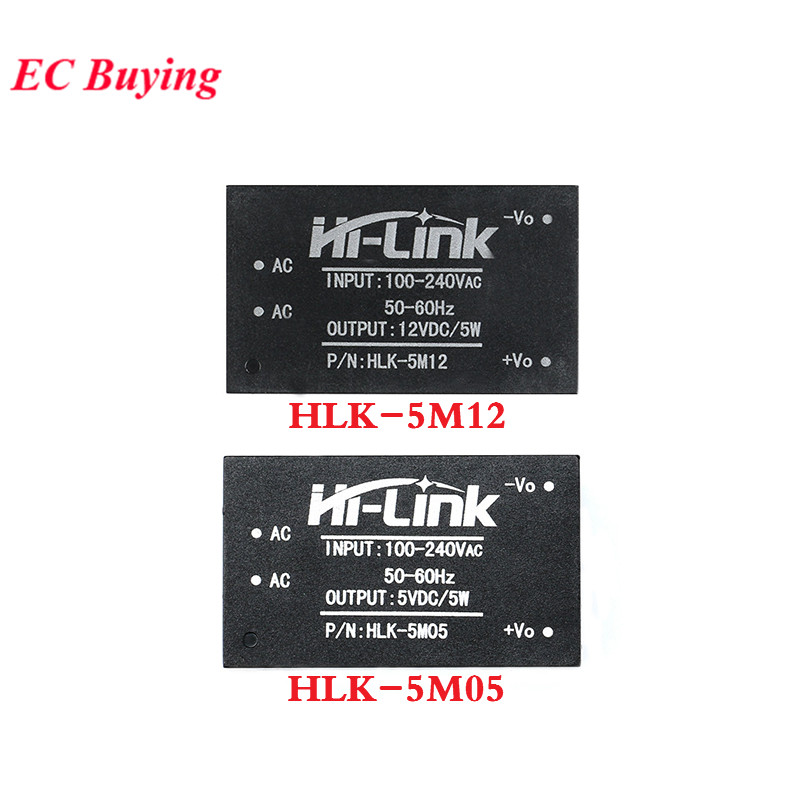 HLK-5M05 HLK-5M12 AC-DC 220V To 5V 12V Power Module AC To DC Step Down Buck Module Low Ripple