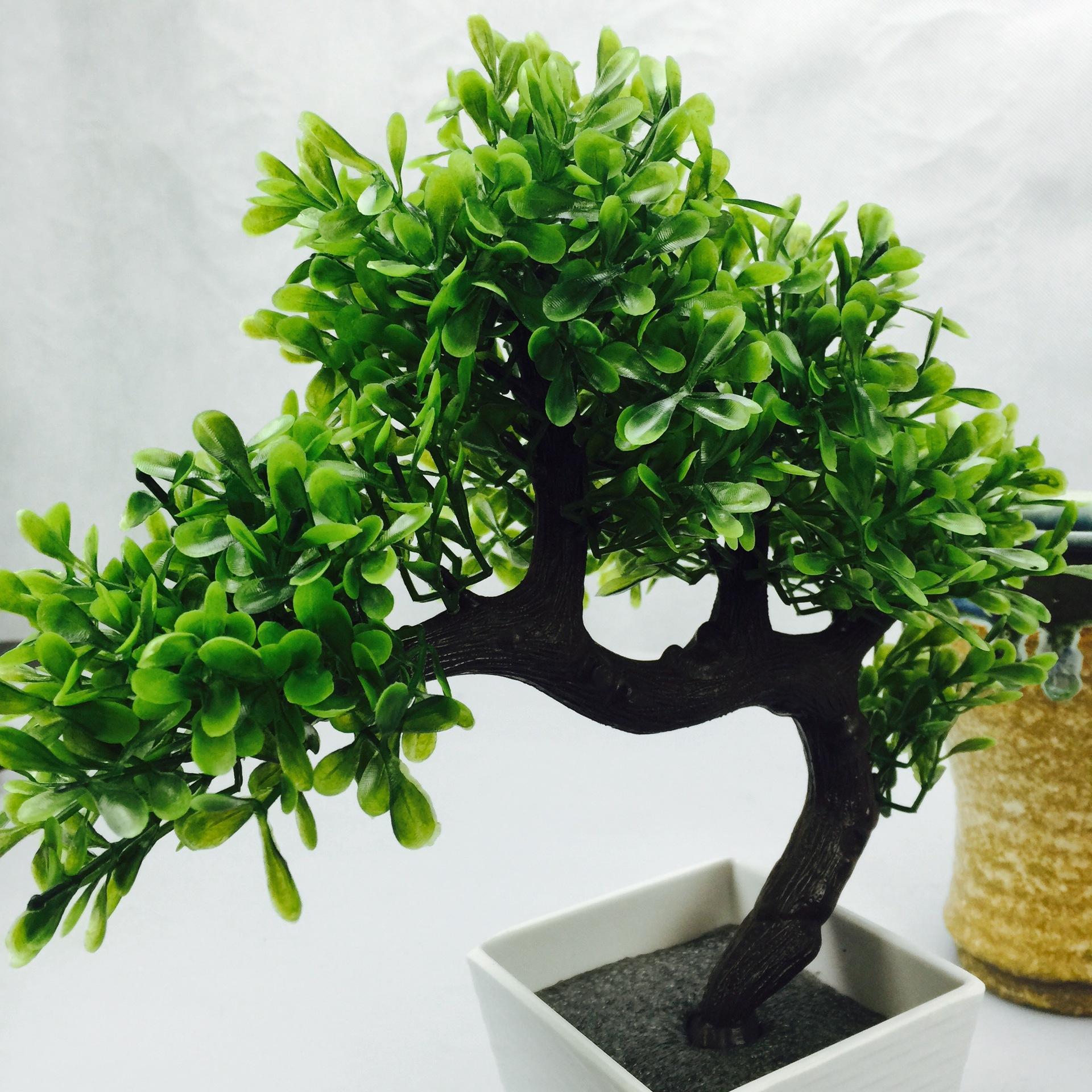 office tree. Artificial Bonsai Tree Welcoming Plant Fake Flower Green Simulation Pine Trees Pot Vase Wedding Home Decoration-in \u0026 Dried Flowers Office