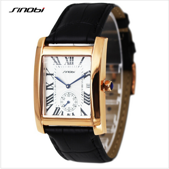 SINOBI Brand Luxury Sapphire Watch Lovers Watch Roman Numerals Quartz-Watch Women Men Fashion Gold Watches Unisex Hour Relojes fashion casual watch men women unisex neutral clock roman numerals wood leather band analog hour quartz wrist watches 7550114 page 8