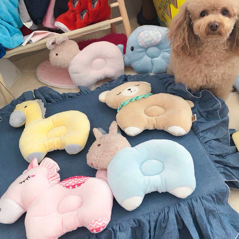 cartoon cute soft pillow for pets puppy kitten sleeping supplies small medium dogs plush toy cooling bed for dogs