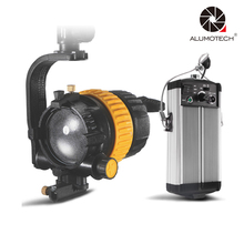 цена на High CRI Bi-color Portable 50W LED Spotlight Continuous Light+V-Lock For Video