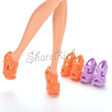 10 Pairs toys High Heels Shoes With Stars For Barbies Doll Color Random 2cm Kids Gift