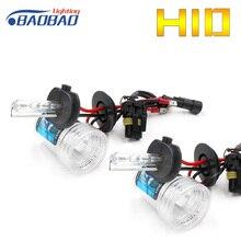 BAOBAO HID Xenon Bulb Car headlight AC 2 pcs 35w 55w 4300K 6000K 8000K H1 H3 H7 H11 9005 9006 Car Styling High low beam bright