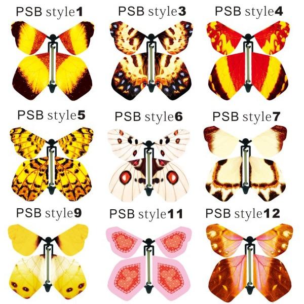 Sihirli kelebek, kağıt kelebek uçabilir, gerçekçi uçan kelebek - Tatiller ve Partiler Için - Fotoğraf 2