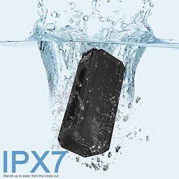 40W Bluetooth Speaker IP7X Waterproof Portable Column Speakr Super Bass Subwoofer Soundbar Support   USB Computer