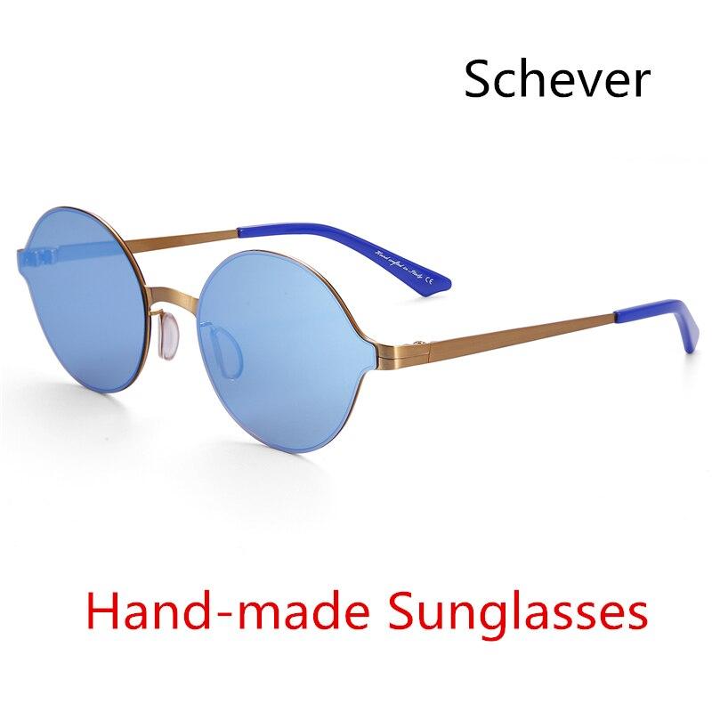 Super Light Sunglasses Round Glasses Coating Mirror Sunglasses Brand Designer Fashion Vintage Summer Style Eyewear Gafas UV400