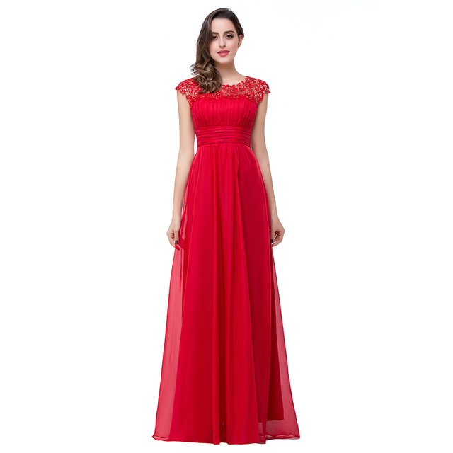 Elegant Crystal Beaded Lace Neck Long Evening Dresses 2017 Sexy Keyhole  Back Prom Party Dress Robe De Soiree Longue a2c616698aca