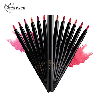 NICEFACE Pro-perfilador de labios, 12 colores, mate, sexi, rojo, resistente al agua, larga duración, labios belleza maquillaje, útiles