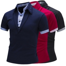 ZOGAA Polo Shirt Mens New Fashion Silm Fit Collar Short Sleevev Cotton Casual Breathable Solid Color Clothing