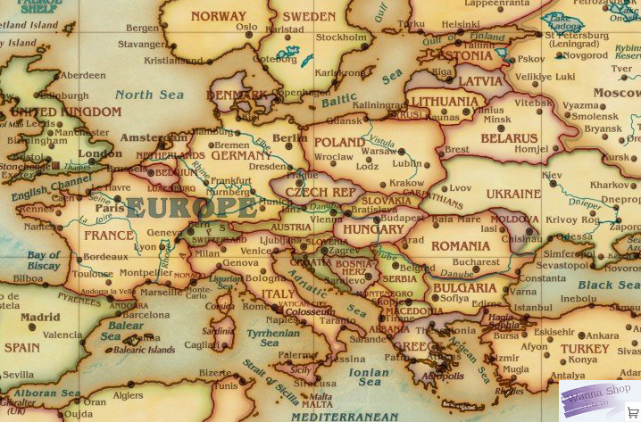 11055cm ancient global map living room decorative painting cloth map europe united states style antique style english world map in wall stickers from home