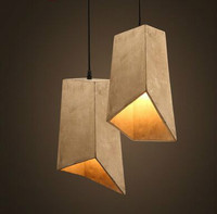 Retro desogn art cement square modern Pendant Light vintage lampe ciment luminaria pendente industrial for bar aisle deco