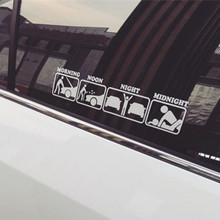 Funny Vinyl 35*7cm Car Stickers and Decals Window Wiper Rear Windshield Decor Car Styling For BMW Benz Audi Ford Toyota Honda(China)
