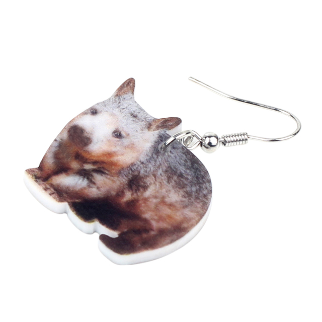 Australian Wombat Earrings 1