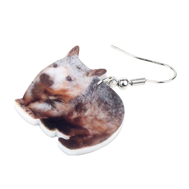Australian Wombat Earrings 1