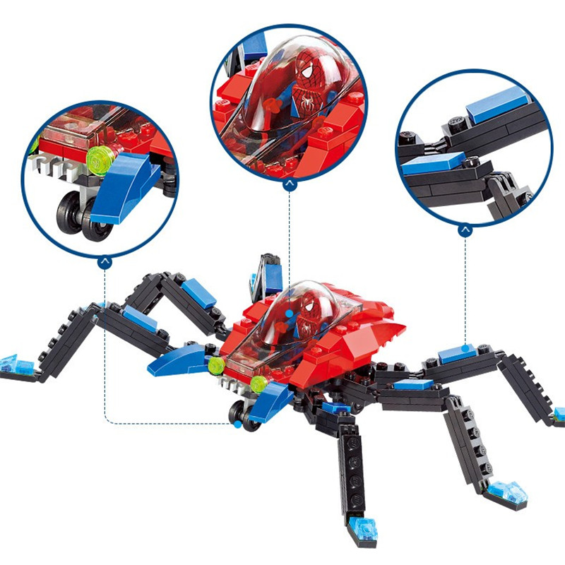 126Pcs Spiderman Super Heroes Building Blocks Sets Brinquedos Bricks Educational Toys for Children in Blocks from Toys Hobbies