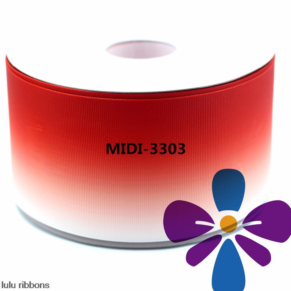 3 75mm Red Gradual Change Color Printed Grosgrain Ribbon DIY Handmade Hair Accessories Clothing Webbing 50