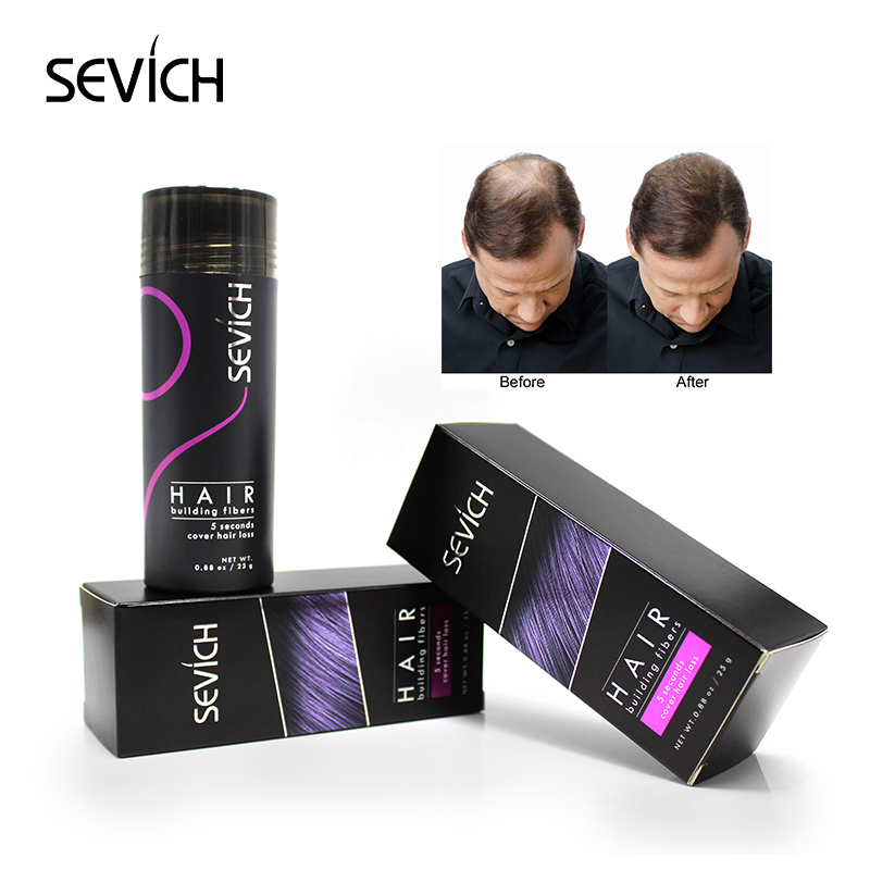 Sevich Regrowth Oil Hair Keratin Thickening Hair Building Instantly 27.5g Top Hair Fiber Pulver Spray Applicator Black / dk brun