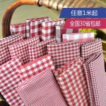 Customized 145cm width Red White Scotland lattice Tartan Plaid Cotton chiffon Cloth Fabric Shirt coat scarf