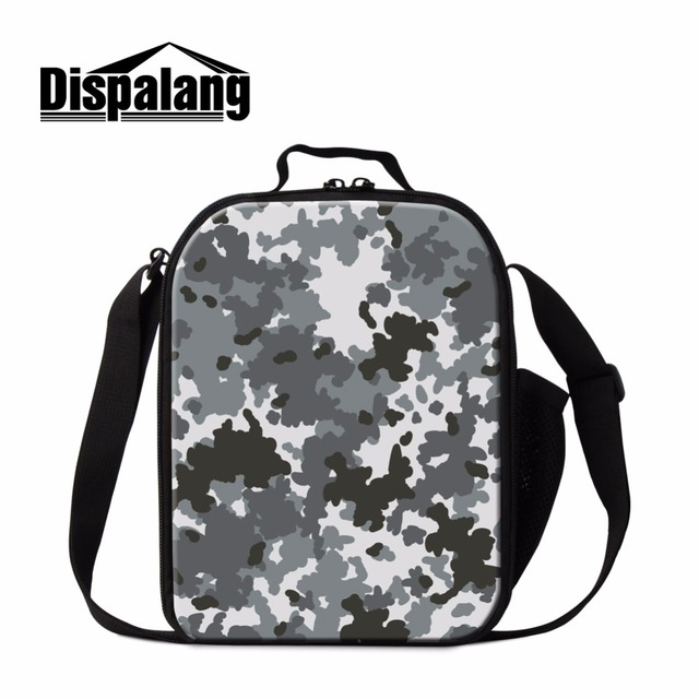 dispalang cool camo 3d printed insulated lunch bags for children