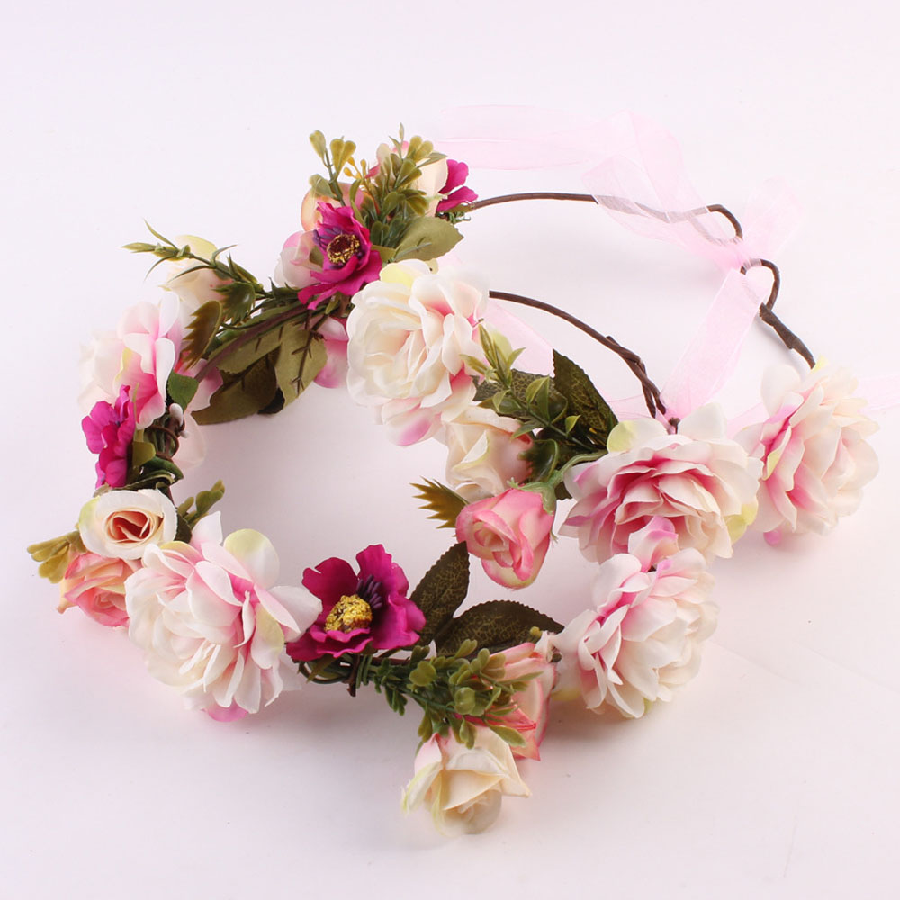 Mommy kids girls beautiful floral wreath flowers headband floral mommy kids girls beautiful floral wreath flowers headband floral crown wedding headwear in hair accessories from womens clothing accessories on izmirmasajfo