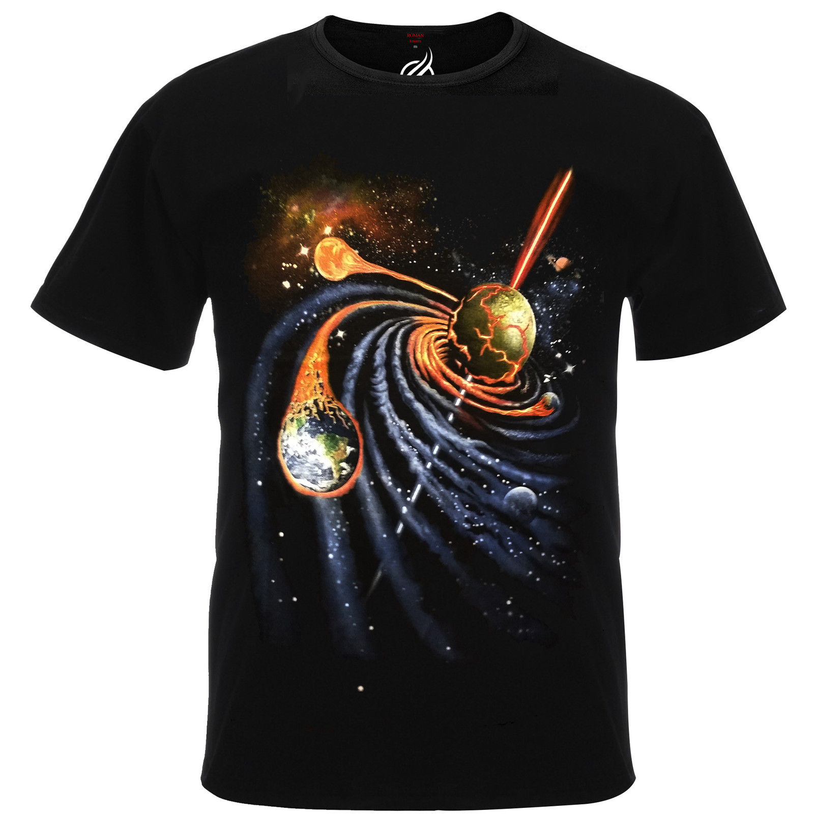 T-shirts Tops & Tees Amicable Galactic Spiral Quasar Meteor Earth Aflame Deep Space Tshirt Tee Shirt Top Rm04t Cool Casual Pride T Shirt Men Unisex New