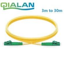 LC APC a LC APC Cable de parche de fibra óptica dúplex 2,0mm PVC Optical Jumper único modo FTTH Cable de parche LC conector
