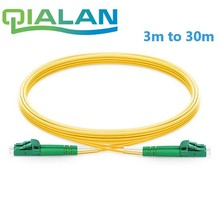LC APC to Fiber Optic Patch Cord  Duplex 2.0mm PVC Optical Jumper Single Mode FTTH Cable Connector