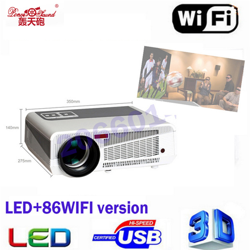 Poner Saund 2017 MAX5500lumens Android 4 4 HD LED Wifi Smart Projector 230W 3D home theater
