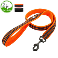 Truelove Soft Padded Mesh Reflective Nylon Walking Training Dog Leash For Medium Large Dogs 110cm Long