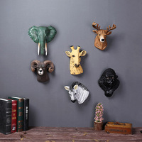 Animal Head Resin Craft Ornament Wall Hanging Creativity Decorating Accessories Home Handicraft Furnishing Articles