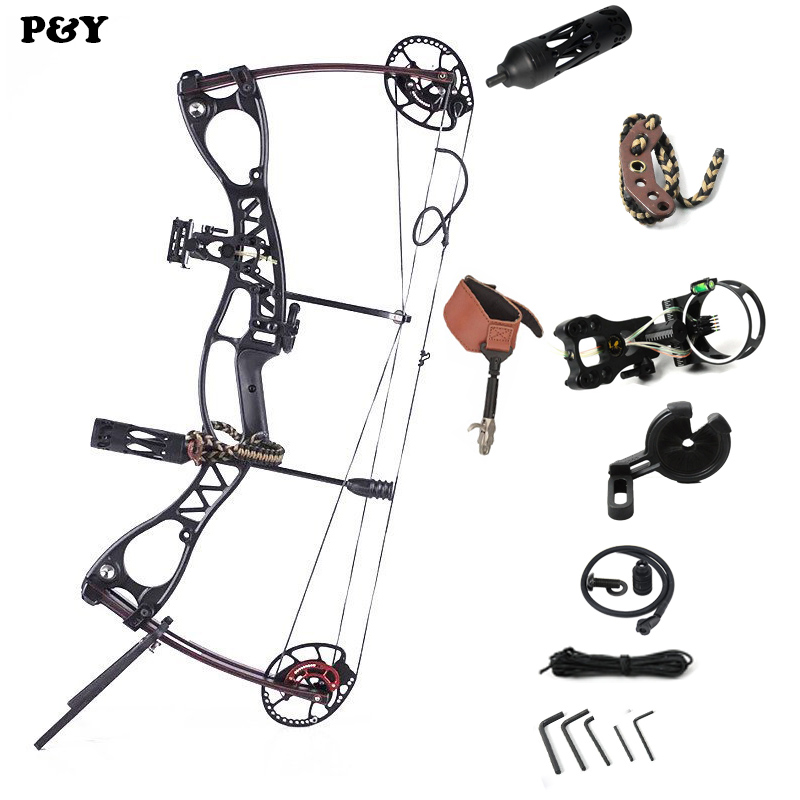 купить Original junxing M122 Compound Bow for Hunting Right and Left Hand Draw weight 20-70lbs Outdoor Shooting Fishing Bow Archery Set по цене 31210.85 рублей