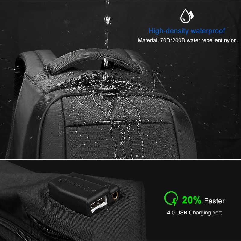 Tigernu Скрытая Anti theft молния 15,6 дюймов Для мужчин школьные рюкзаки ноутбук водоотталкивающая путешествия 20L Multi USB Зарядное устройство мужской Mochila