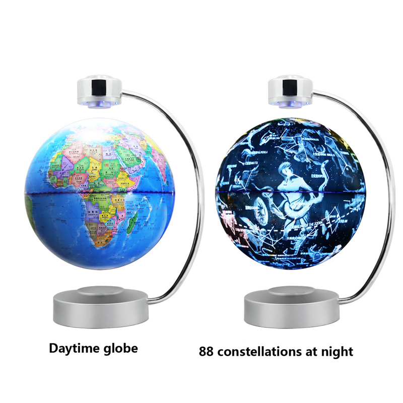 Magnetic levitation globe table lamp constellation rotation office gift potted moon Desk Lamps