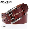 Hot Sale fashion pin bucklestyle men leather vintage belt brand male cowhide leather strap jeans cowboy cintos No:WA1311054