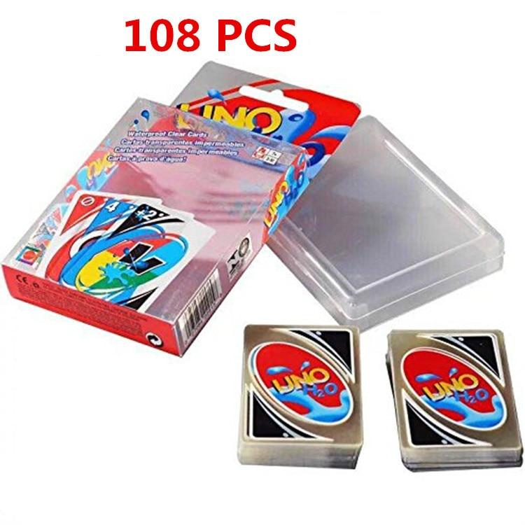 108 PCS Qualité En Plastique PVC Poker Imperméable Cartes À Jouer Creative Cadeau Durable Poker Poker cartes jeu de société