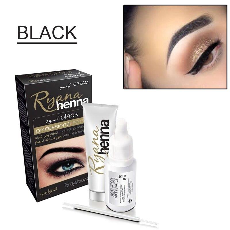 eb633e2a3 Ryana Henna Natural Eyebrow Tint Kit Brown Black Brows Dyeing ...