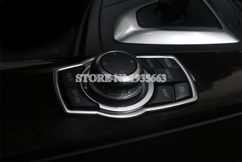 2011-2015 For BMW X3 F25 Front Inner Multi-media Button Cover Frame Decor Trim