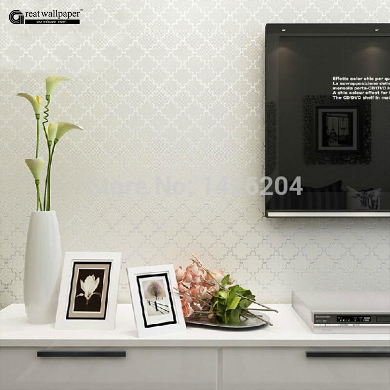 ФОТО Great Wall Delicate foam noble lattice bedroom living room wall paper modern,3d luxury Embossed Flocking wallpaper roll