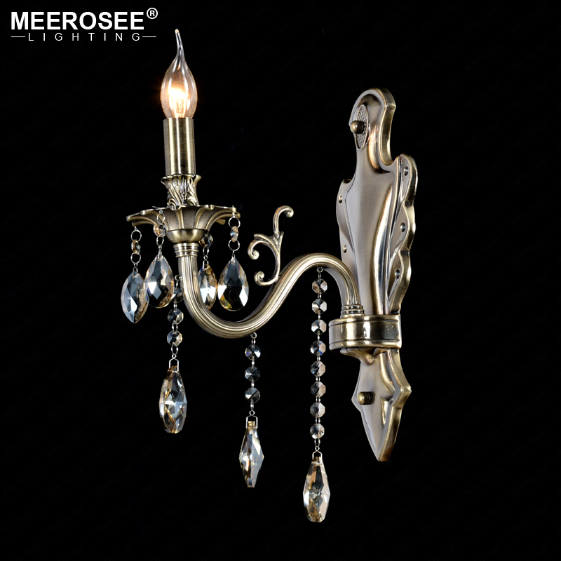 Crystal Wall Light Lustres Wall Sconces Lamp Bedroom Wall Brackets Lighting Fixture for bedroom Living room 100% Guarantee crystal wall light lustres wall sconces lamp bedroom wall brackets lighting fixture for bedroom living room 100% guarantee