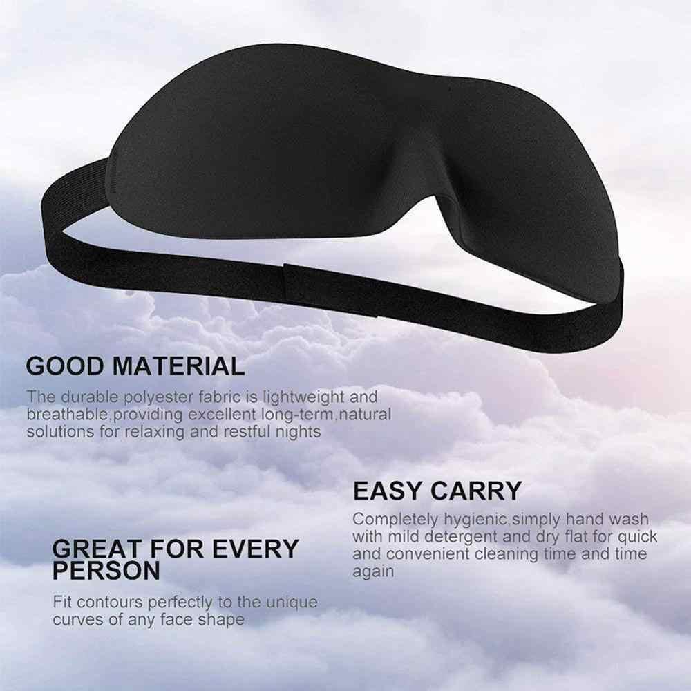 1 個 3D 睡眠マスク自然睡眠アイアイシェードカバシェードアイパッチ女性男性ソフトポータブル目隠し旅行眼帯
