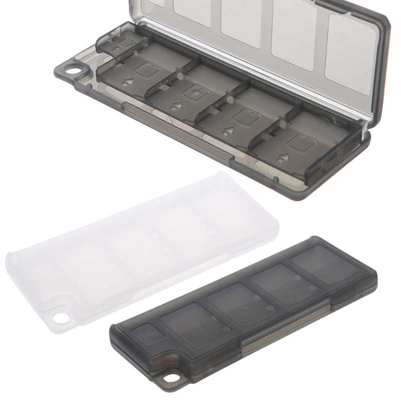 Portable Memory Card Holder 10 in 1 Game Memory Card Storage Case Box Holder For Game Cards Black 1