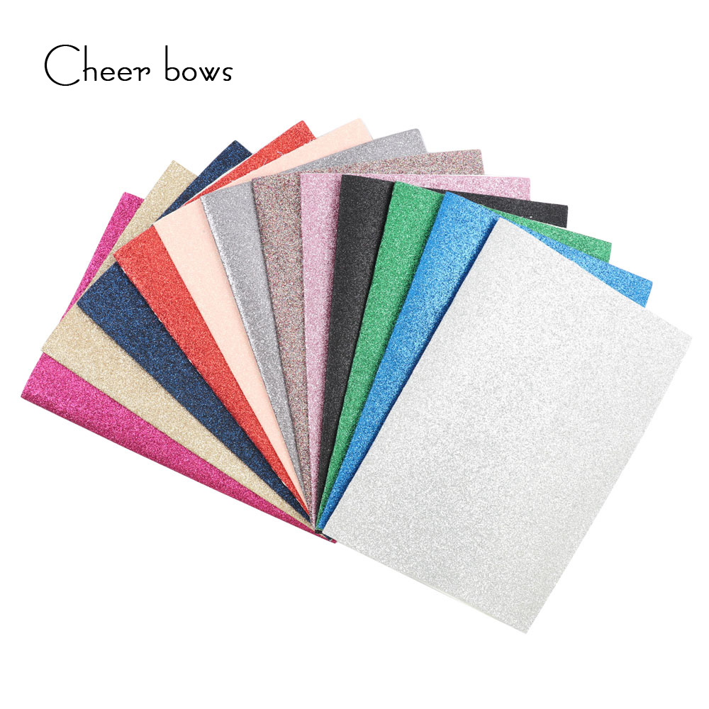 22*30CM Glitter Solid Color Fabric DIY Bag Accessories Apparel Sewing Material For Dolls Making Tissue Kids Bedding Home Textile