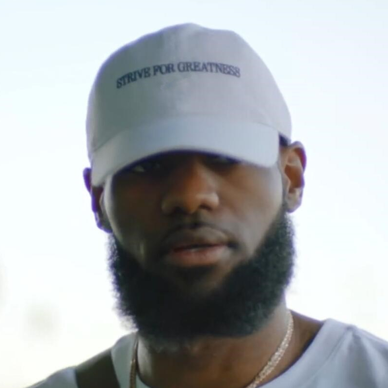 Lebron James Baseball Cap STRIVE FOR GREATNESS Embroidery Dad Hat 100% Cotton Women Men Summer Caps Snapback Casquette Bone muñeco buffon